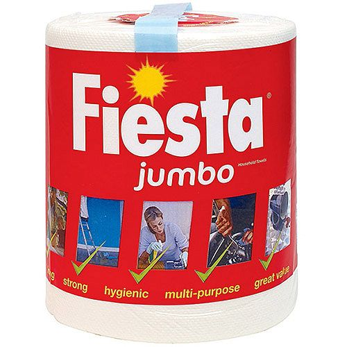Fiesta Jumbo Kitchen Paper Towel Roll 400 Sheets Pack 1
