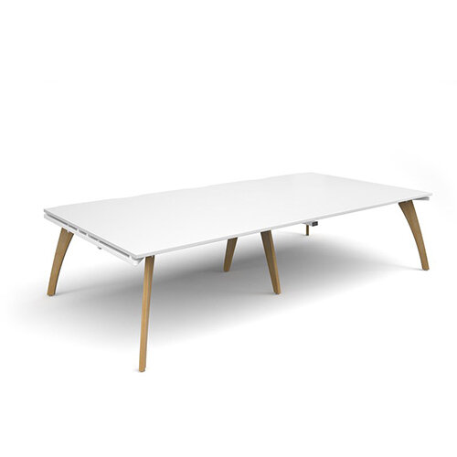 Fuze Rectangular Boardroom Table White W3200mmxD1600mm