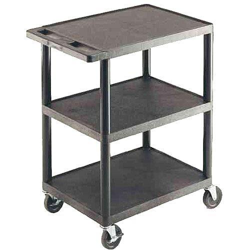 GPC 3-Shelf Service Trolley Black GI341L