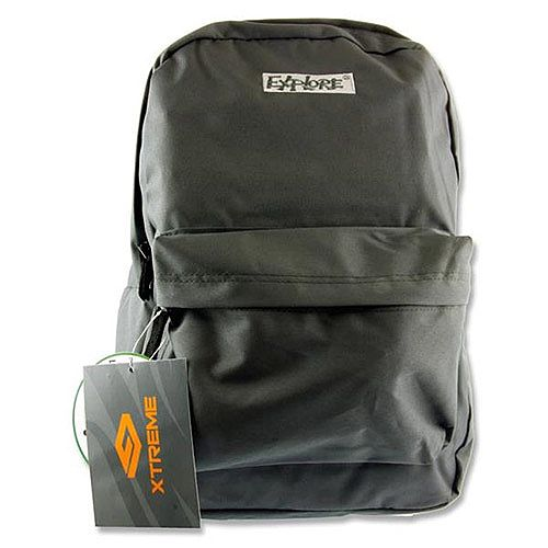 School Bag Pack 25 Litre Backpack Grey Explore Xtreme