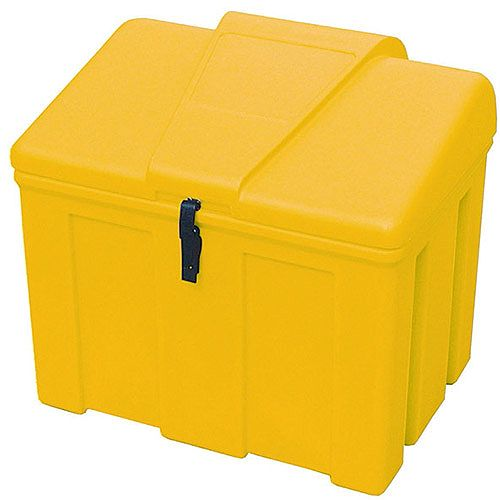 Heavy Duty Durable Plastic Grit/Sand Bin Lockable Box 110 Litre Yellow 379941