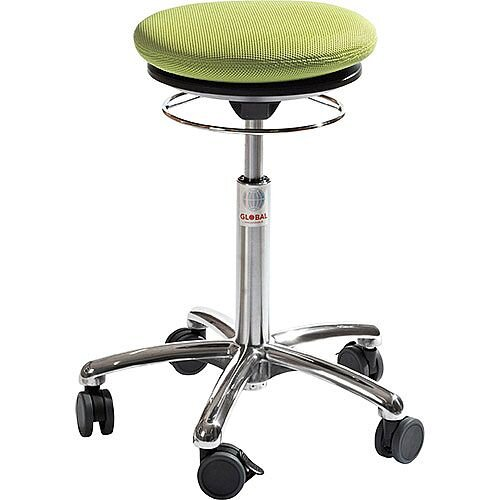 Pilates Air-Seat Ergonomic Stool With Easy Clean Green 3D Runner Seat Upholstery H450 - 640mm