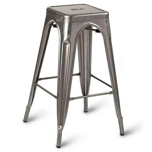 Paris High Outdoor Stool Gunmetal