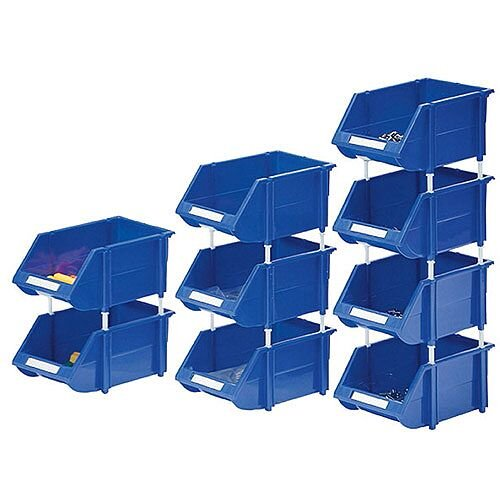 Heavy Duty Storage Bin Pack of 12 Blue 360235