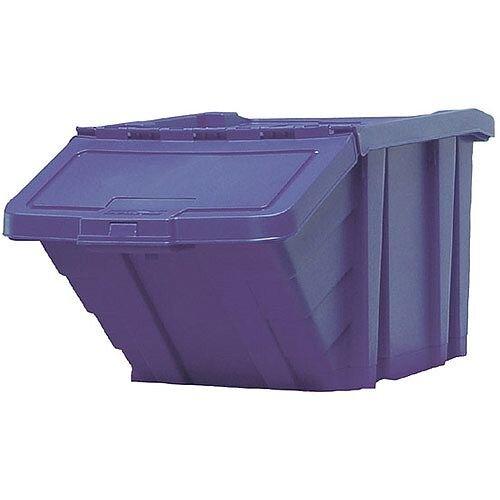 Heavy Duty Storage Bin with Lid Blue 369044 124471