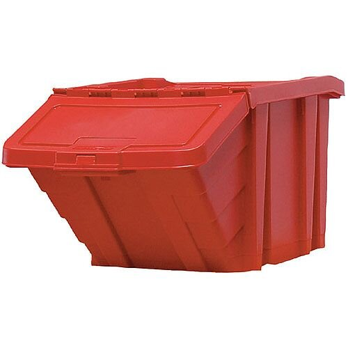 Heavy Duty Storage Bin with Lid Red 369045 124473