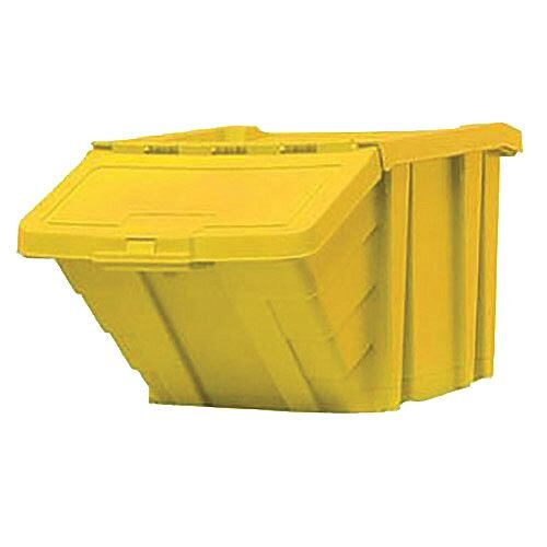 Heavy Duty Storage Bin with Lid Yellow 359521