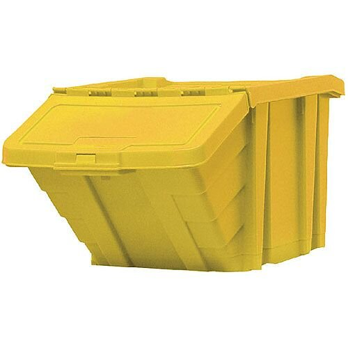 Heavy Duty Storage Bin with Lid Yellow 369047 124470