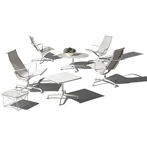 Herman Miller Eames Aluminum Group Chairs Outdoor