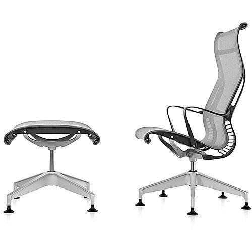 Herman Miller Setu Lounge Chair and Ottoman