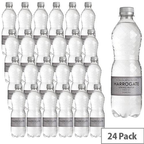 Harrogate Spa Natural Bottled Water Sparkling 500ml Pet Bottle Pack of 24