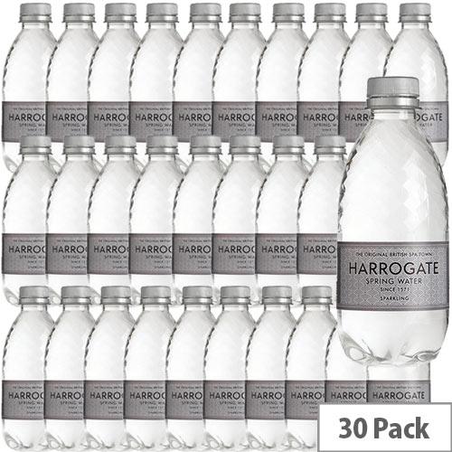 Harrogate Sparkling Water Plastic 330ml Bottle Silver Label Pack of 30