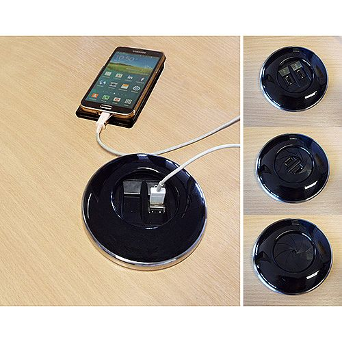 Algar Black IRIS Power Module 2x USB Charging Ports 2A Combined IRIS-B