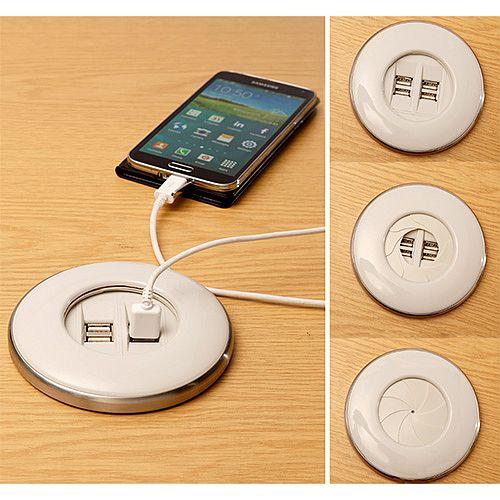 Algar White IRIS Power Module 2x USB Charging Ports 2A Combined IRIS-W