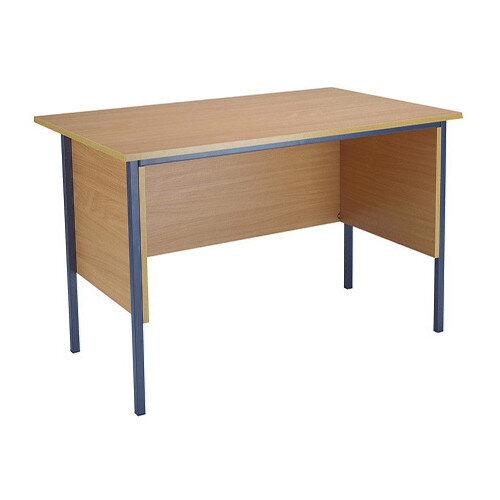 Jemini Intro W1200mm 4 Leg Office Desk Bavarian Beech KF838367