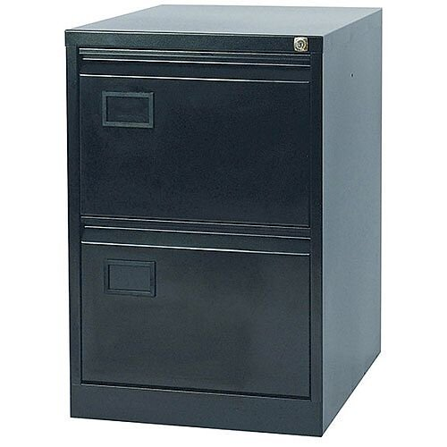 2-Drawer Filing Cabinet Black Jemini By Bisley