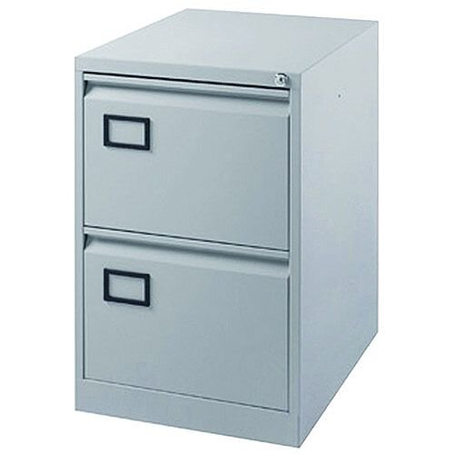 2-Drawer Filing Cabinet Pearl Grey Jemini By Bisley
