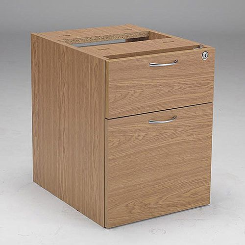 Jemini 2-Drawer Fixed Pedestal Oak KF72076