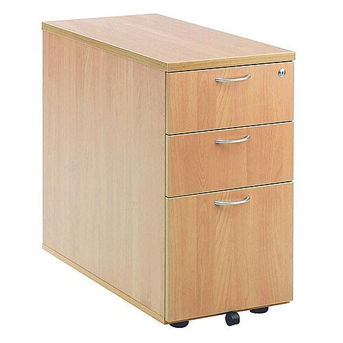 Jemini 3-Drawer Desk High Pedestal 800mm Beech KF72072