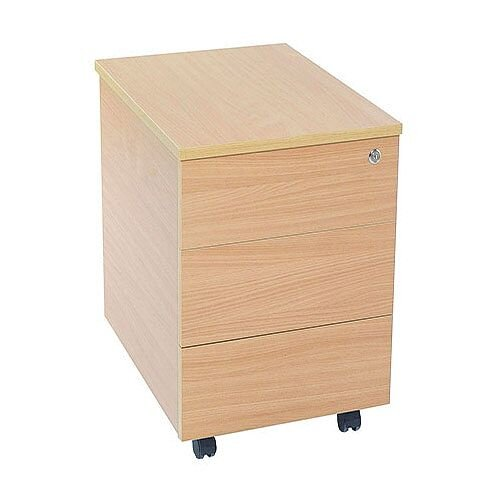 Jemini Intro 3-Drawer Mobile Pedestal Bavarian Beech
