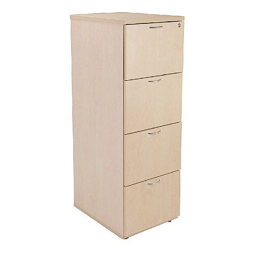 Wooden 4-Drawer Filing Cabinet Maple Jemini KF71960