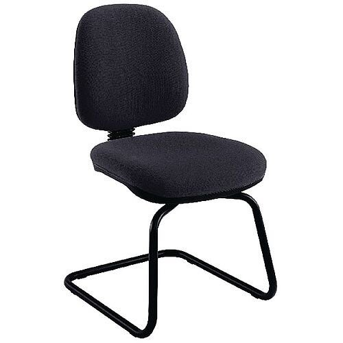Jemini Medium Back Visitors Chair Charcoal