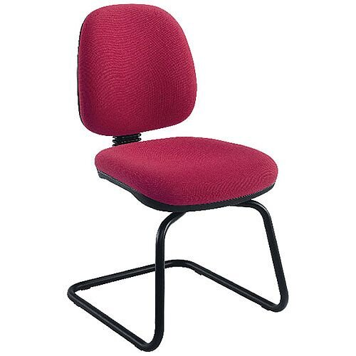 Jemini Medium Back Visitors Chair Claret