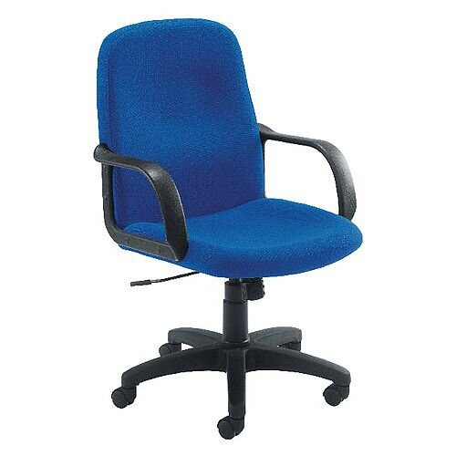 Jemini Managers Office Chair With Arms Star Leg Blue KF03428