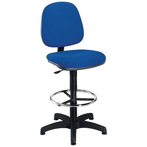 Jemini Medium Back Draughtsman Chair Blue KF838252