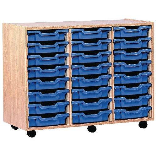 Jemini Mobile Storage Unit 24 Tray Beech TC24T
