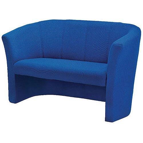 Avior Fabric Upholstered Tub Sofa 2 Seater Blue KF03524