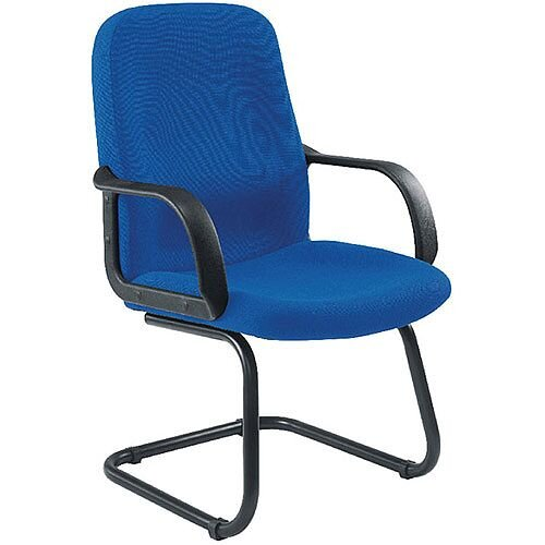 Jemini Visitor Cantilever Leg Chair With Arms Blue KF03424