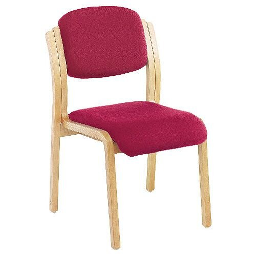 Jemini Wood Frame Stacking Reception Side Chair Claret KF03513