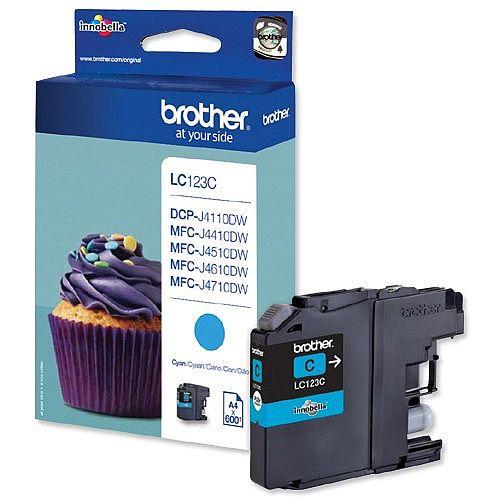 Brother LC-123C Cyan Inkjet Cartridge LC123C