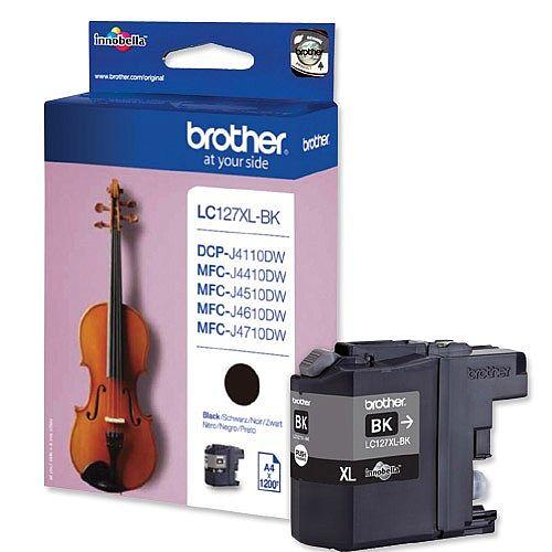Brother LC127XL-BK Black High Yield Inkjet Cartridge