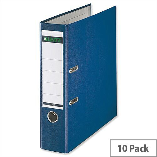 Leitz 180 Polypropylene A4 80mm Blue Lever Arch File Pack of 10
