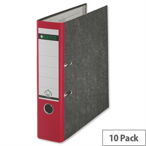 Leitz Standard Lever Arch File Red A4 Pack 10