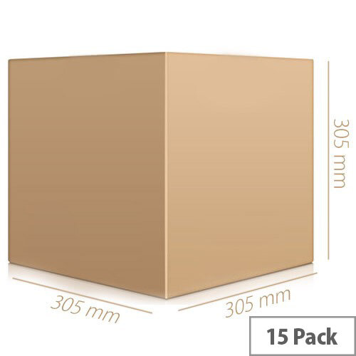 Double Wall 305x305x305mm Brown Corrugated Dispatch Packing Cardboard Boxes (Pack of 15)