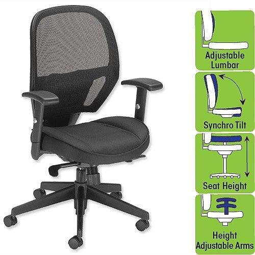 task chair mesh seat black w520 x d520 x h470 600mm influx amaze
