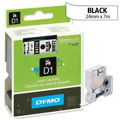 Dymo D1 Tape 53713 24mmx7m Black on White S0720930