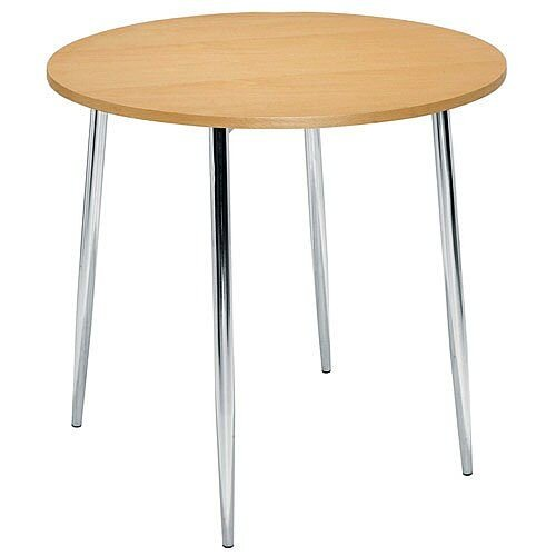 Ellipse 4 Leg Circular Cafe Table Beech