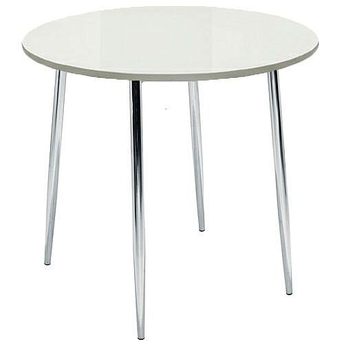 Ellipse 4 Leg Circular Cafe Table White