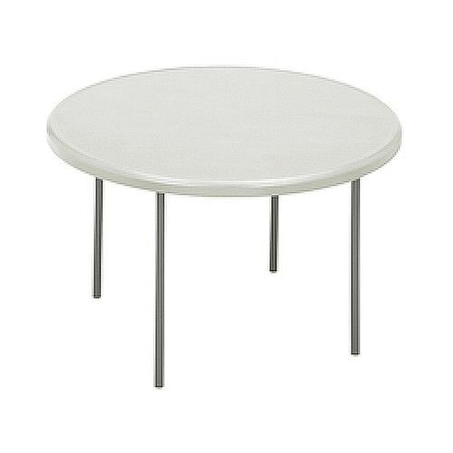 Round Folding Table White