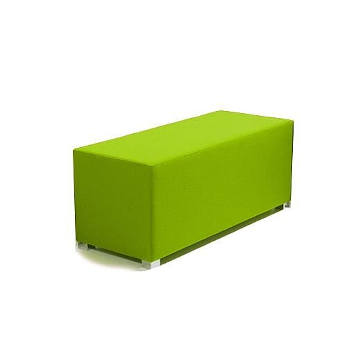 Link Bench Stool Green - Fully Upholstered in Durable Fabric, Part of LINK Modular Soft Seating Range