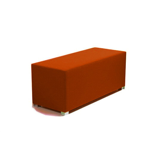Link Bench Stool Orange - Fully Upholstered in Durable Fabric, Part of LINK Modular Soft Seating Range