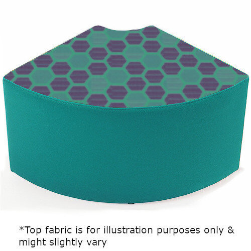 Link Quadrant Stool Blue  - Fully Upholstered in Durable 2 Tone Fabric, Part of LINK Modular Soft Seating Range