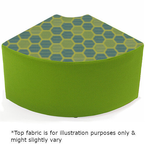 Link Quadrant Stool Green - Fully Upholstered in Durable 2 Tone Fabric, Part of LINK Modular Soft Seating Range