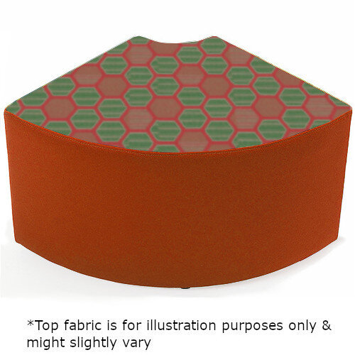 Link Quadrant Stool Orange - Fully Upholstered in Durable 2 Tone Fabric, Part of LINK Modular Soft Seating Range