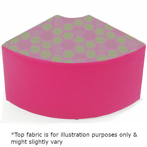 Link Quadrant Stool Pink - Fully Upholstered in Durable 2 Tone Fabric, Part of LINK Modular Soft Seating Range