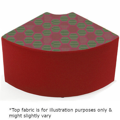 Link Quadrant Stool Red - Fully Upholstered in Durable 2 Tone Fabric, Part of LINK Modular Soft Seating Range